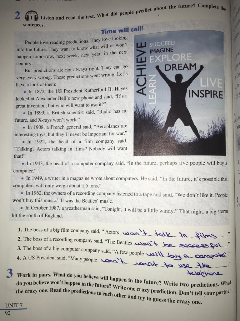 7 Sınıf Ingilizce 7 ünite Cevapları Sdr Dikey Yayıncılık 7 ünite