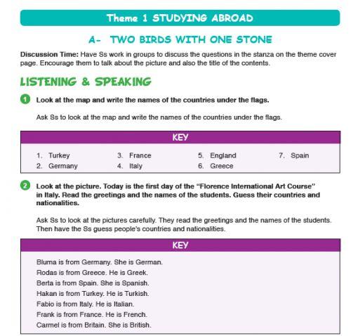 9 Sınıf Ingilizce 1 ünite Teenwise Ders Kitabı çalışma Kitabı